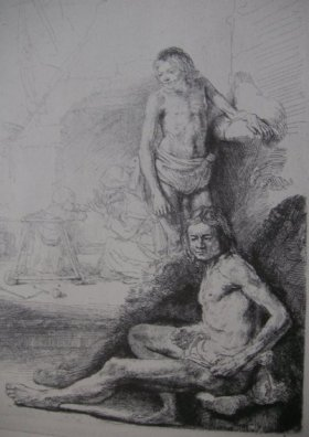 Etching signed and dated by Rembrandt