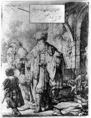 Etching of same group with date