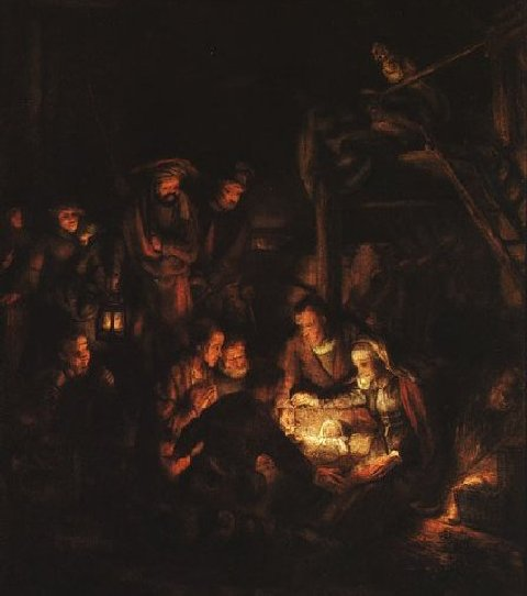 Adoration - Munich by Rembrandt
